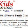 SuperKids Word Search Generator